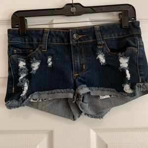 Short shorts denim distress
